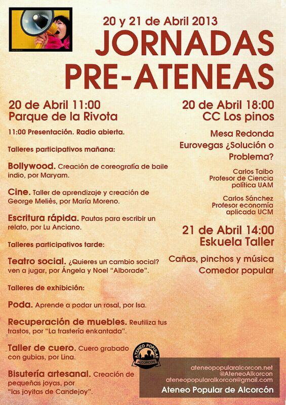 Jornadas Pre-Ateneas